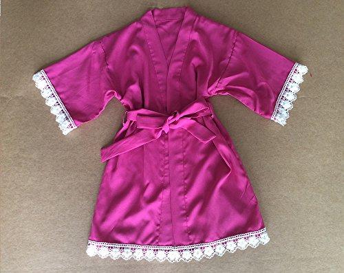 magenta mädchen gewand - baby bademantel mit spitzen schneiden blumenmädchen gewand blumenmädchen geschenk babyparty geschenk rayon stoff