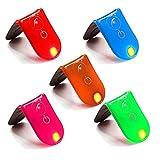 LED Sicherheit Reflektierende Clip Light Running Radfahren Hund Joggen Walking Hohe Sichtbarkeit Hartmagnet Clip Fahrrad Helm Bike Rücklicht 5x mehrere Farben