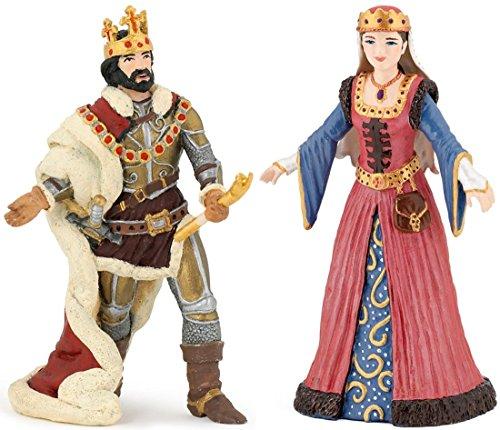 (Papo König Ivan 39047 mit Königin 39048 2er Figuren-Set)