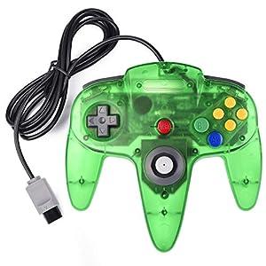 suily Game Controller für Retro 64-Bit N64, Kabelgebundener Gamepad Controller Joystick für N64 Konsole N 64 System(klares grün)