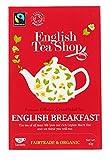 English Tea Shop English Breakfast Fairtrade & Organic Black Tea / Té Nero di Ceylon Colazione Inglese Biologico ed Equosolidale Premiata Collezione di Té Raccolti a Mano dallo Sri Lanka - 3 x 20 Sachets (120 Gram)