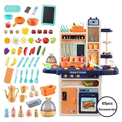 elküche Toys Elektronische Küche Spielset Kleinkind Spielen Küche Kochen Set Kinder Küche Vortäuschen Spielen Obst Für Mädchen Jungen Beste Spielzeug Geschenk,Blue ()