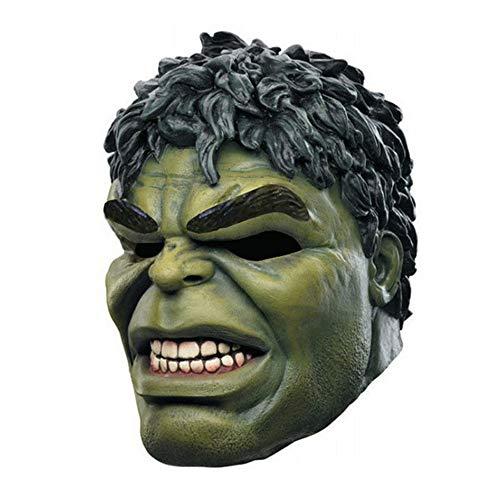 Adulto Los Vengadores Hulk Cabeza Máscara De Goma Adulto Cosplay Traje Show Full Face Latex Party Mask