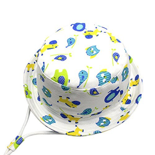 aedbf77155fa GEMVIE Chapeau Bob Bébé Enfant Chapeau de Soleil Unisexe Anti-UV Solaire  pour Plage Outdoor