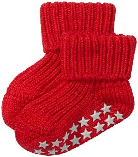 FALKE rutschfeste Cotton Babys Socken Babysocken Catspads - rot, 1 Paar, Noppen (ABS), für Jungen Mädchen, Stoppersocken