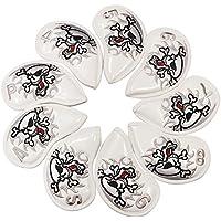 9pcs/set bordado de calavera para cabeza de hierro de golf, Club, blanco
