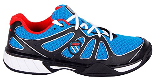 K-SWISS EXPRESS 100 MESH BLK/BRLNT BLUE/FIERY RED (8.5 UK, Negro/Azul/Rojo)