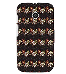 MOTOROLA MOTO E FLOWER PATTERN Designer Back Cover Case By PRINTSWAG