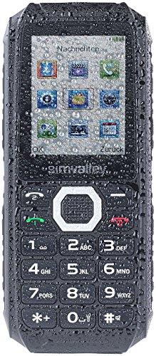 Simvalley Mobile Outdoor Handys: Outdoor-Dual-SIM-Handy, Powerbank-Akku 4400mAh, IP67, 30 Tage Stand-by (Senioren Outdoor Handy)