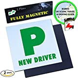 Picture Of Le Yogi Magnetic P Plates Extra Thick Strong Magnet Design for Learner Drivers, BONUS Scenic Drive and Tips Ebook, Guaranteed To Not Fly Off At High Speeds, Government Approved Learner Plates, 2 Pack