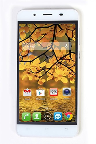 Hicell T666 Dual SIM 5 inch Touch Screen Display Android 5.1 Lollipop OS 1 GB RAM and 8 GB Internal Memory Dual Camera 3G Connectivity (White)