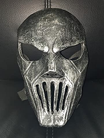 Silver Fibreglass - Mick Thomson Deluxe mask With Adjustable