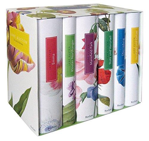 Buchcover Die sechs Romane: Emma, Kloster Northanger, Mansfield Park, Stolz und Vorurteil, Überredung, Verstand und Gefühl