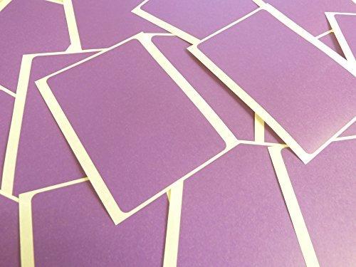 Grande 99x65mm Rectangular Morado Oscuro Violeta Código De Color Pegatinas, 20 autoadhesivo Rectángulos Adhesivo Etiquetas Colores