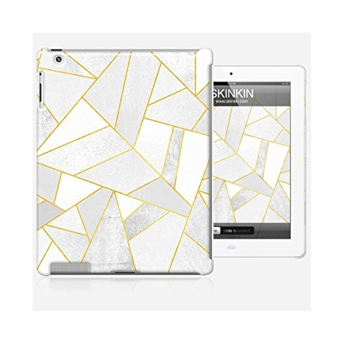 Coque iPhone 5 et 5S de chez Skinkin - Design original : White stone with gold lines par Elisabeth Fredriksson Coque iPad