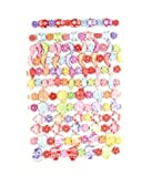 Set Of 12 Childrens Elasticated Stretch Animal Bracelets - 6 Designs Per Set (2 of each style) - Not Suitable For Children Under 36 Months Old - GREAT VALUE