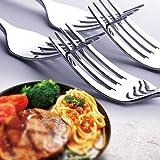 Besteck, Elegant Life 24-teiliges Edelstahl besteckset, Geschirrset Service für 6, Geschirrset mit Messer, Gabel, Löffel, Teelöffel, Heimgebrauch, Küche mit Geschenkbox aus Holz (Silber) - 6