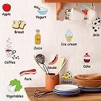 Etiqueta de la pared Cocina Comidas Comidas Comidas Comidas Leche Vegetales Refrigerador Mesa de Comedor Decoración