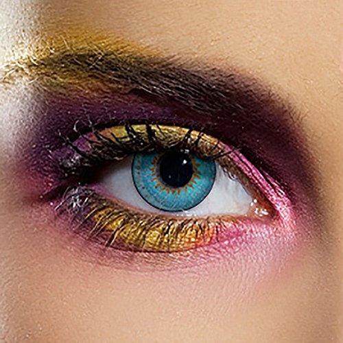 EDIT 90 Tage Farbige Kontaktlinsen Ohne Stärke (Tri Tone Aqua)