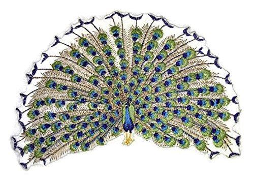 BeyondVision Erstaunlich Vögel Reich bestickte Eisen Nähen Patches 7,54 x 5,32 grau, schwarz, weiß, grün, rot (Mockingbird Patch)