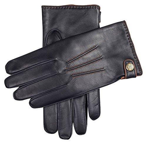 Marine / Cognac Salisbury Lämmer Wolle gefüttert Haarschal Leder Handschuh - X Groß von Dents