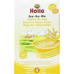 Holle Papilla de Mijo (+4 meses) SIN GLUTEN - Paquete de 6 x 250 gr - Total: 1500 gr