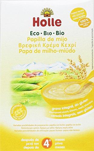 Papilla ecológica de mijo HOLLE (6 paquetes de 250 gr)