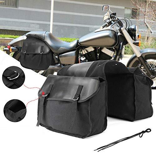 SDGDXCHN JoyFan Motorrad Seitensattel wasserdichte PU Leder Motorrad Seitenkoffer Tasche Motorrad Satteltasche Fahrradtaschen Taschen Vintage Look für Mountain Bike -