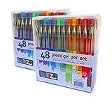 Gelschreiber  LolliZ Gelstifte 96 Gel-Stifte Set mit Einzelfach-Ablage