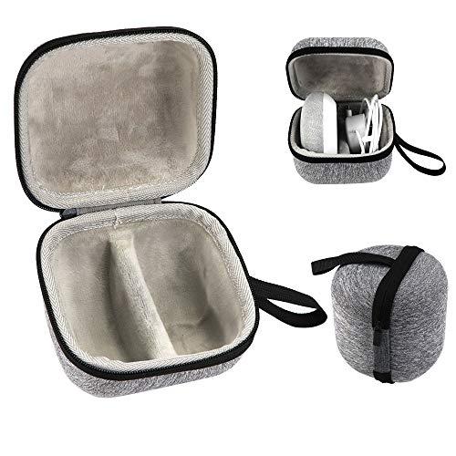 Wanshop  Hard Case Hart Kopfhörer Fall Reise Tasche Reisetasche zum Aufbewahren von Reisen Hart Lagerung Tragen Travel Case Tasche (grau) Semi Hard Case