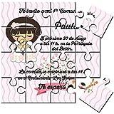 Invitación de Comunión niña en puzzle (2,15€ unidad)