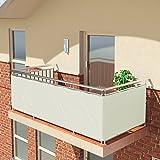 BALCONIO PREMIUM Balkonbespannung - 600 x 85 cm - WEISS - wasserabweisend