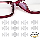 Rutschfeste Nasenpads, 12 Paar 2,5 mm 1,8 mm Non-slip Silicone Nose Pads Adhesive für Brillen Sonnenbrille Lesebrille Pads, Transparent