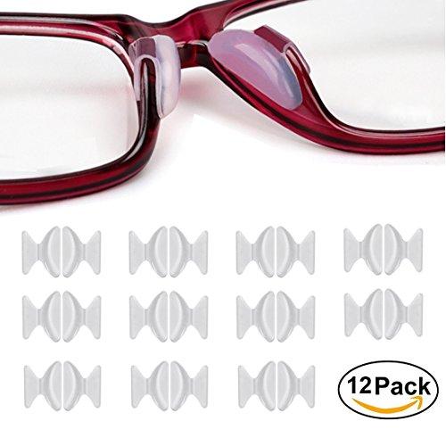 Almohadillas De Nariz De Silicona, 12 Pares De Lentes De Gafas De Gafas De 2.5 Mm Y 1.8 Mm Espectáculos De Gafas Adhesivas De Silicona Antideslizante, De Aurorali, Claro