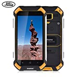 GUOPHONE Smartphone V19 3G Smartphoness 4.5 Inch Android 5.1 Smart Cell Phone IP68 Waterproof Dust Shock Resistant MTK6580 Quad Core Cellphone 2GB RAM 16GB ROM Mobile Phone(Orange,Black,Yellow)