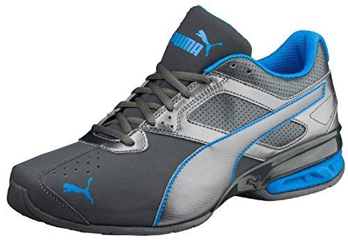 Puma Herren Sneaker Tazon 6 FM, 189873 42.5 EU, Grau (Asphalt-Electric Blue 19)
