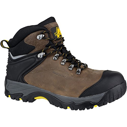 Amblers Safety Mens FS993 Leather Waterproof Safety Boots Brown