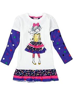Novatx Mädchen Kleid Punkt Langarm Karton Mädchen H3660 Kleid