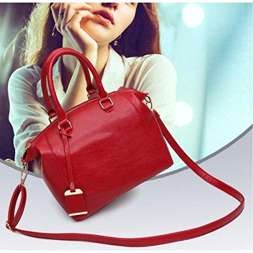Signora Modello Di Litchi Moda Tendenza Borsa A Tracolla Messenger Borsa Casual Personalità Elegante Red