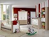 Babyzimmer Emily (Babyzimmer Emily 6-teilig, Weiß)