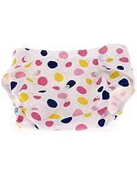 Couche pour bébé réutilisable en tissu Motif imprimé Boutons pression Housse lavable et ajustable