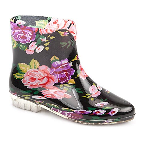 Pavers Ladies Floral Wellington Boot. 309 268