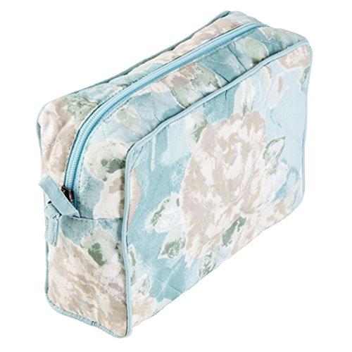 Ragged Rose Molly Trousse à maquillage en coton Motif floral Bleu dragée