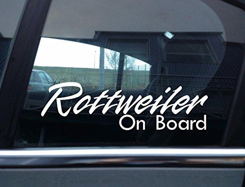 "\""Rottweiler On Board\"" Hund, Auto Vinyl Aufkleber"