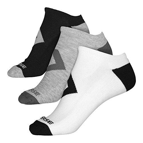 Converse Herren Socken 3-er Pack Bold Star Chevron Füßlinge weiß grau schwarz, Größe:39-42 EU (Bold Socken)