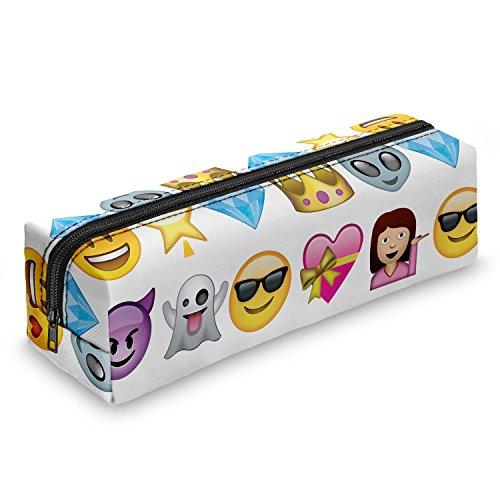 Emoji Smileys Federmäppchen Schuletui Federmappe Mäppchen Stifteetui Schlamperbox Stifte Schule Makeup Pinselbox Pinsel