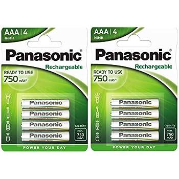 PANASONIC HHR-4MVE//3BD PACK DE 3 PILES AAA RECHARGEABLE 750 MAH