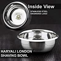 Alta calidad de afeitar de acero inoxidable del tazón de haryali London. Cuenco Ideal para cualquier Día utilizar.