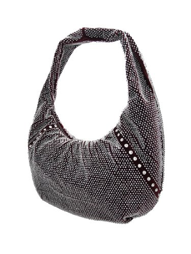 Things2Die4, Borsa a spalla donna nero Black Wine