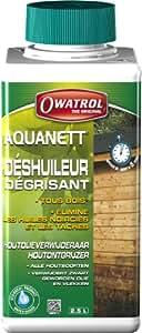 Owatrol Aquanett Déshuileur/dégrisant gélifie tous bois 2,5 L